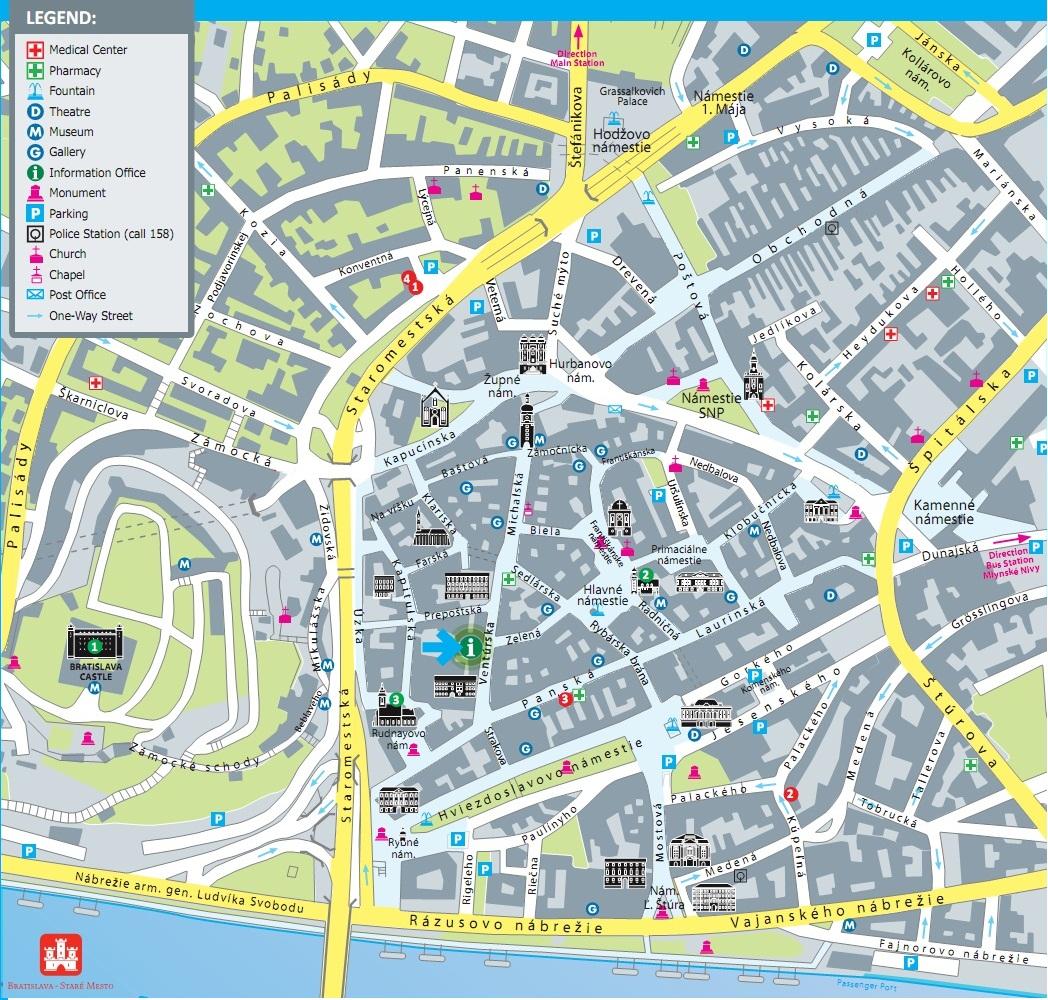 bratislava mapa BRATISLAVA TRAVEL SERVICE hotely, apartmány, prehliadky, kultúrne  bratislava mapa